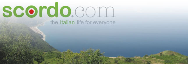 Scordo logo with Italian landscape