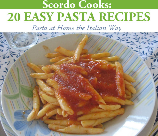 Cover to Scordo Cooks: 20 Easy Pasta Recipes